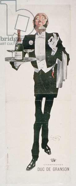 Advertisement for 'Duc De Granson Champagnes' (colour litho)