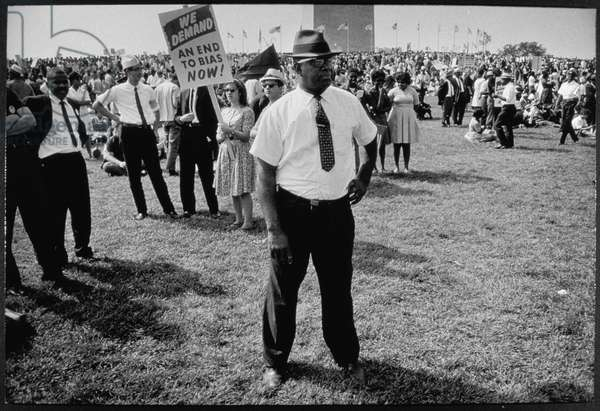 The March on Washington: 'We Demand an End to Bias Now', 28th August 1963 (b/w photo)