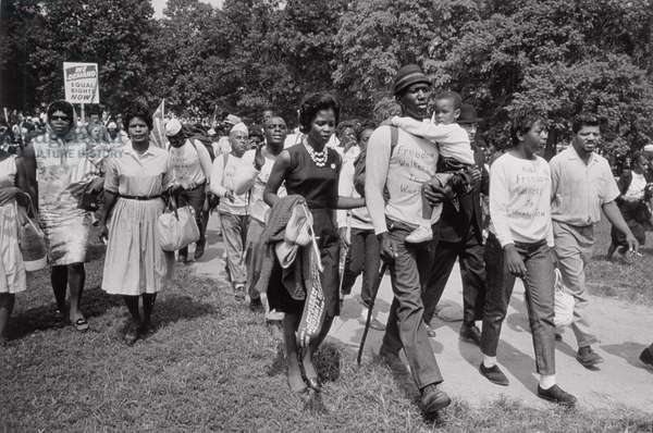 The March on Washington: Freedom Walkers, 28th August 1963 (b/w photo)