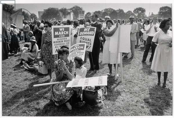 The March on Washington: At Washington Monument Grounds, 28th August 1963 (b/w photo)