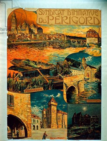 Syndicat D'Initiative du Périgord, c.1900 (colour litho)
