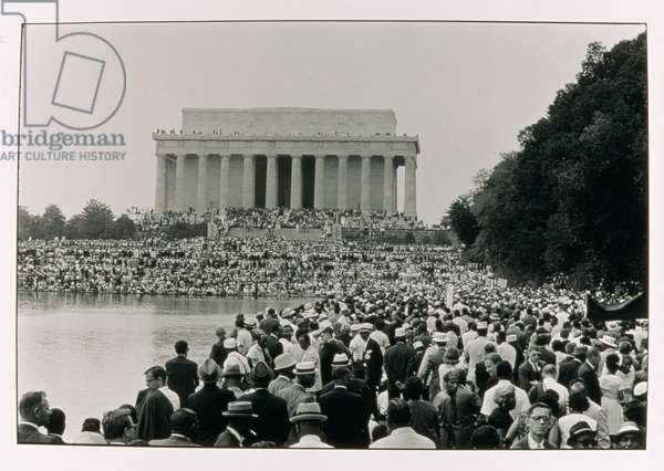 The March on Washington: A View from the Reflecting Pool, 28th August 1963 (b/w photo)
