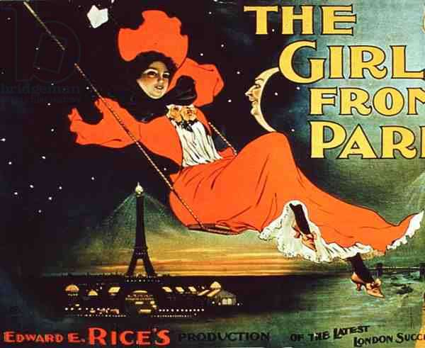 Advertisement for Edward E. Rice's 'The Girl from Paris' (colour litho)
