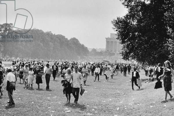 The March on Washington: Heading Home, 28th August 1963 (b/w photo)