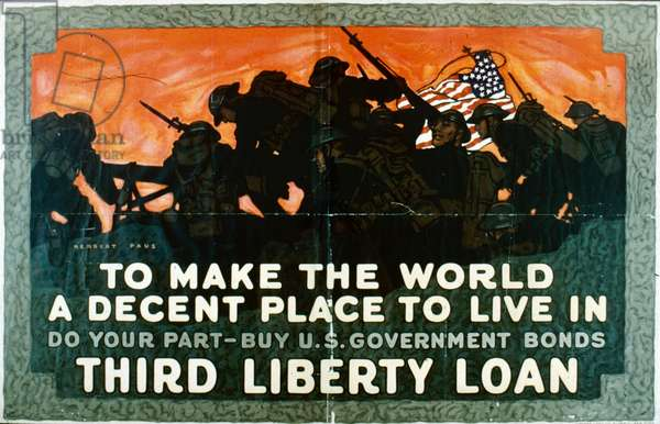 To make the world a decent place to live in, do your part and buy U.S. Government Bonds (colour litho)