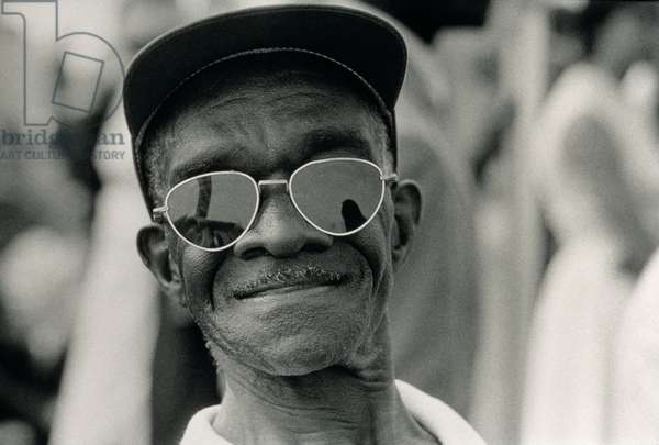 The March on Washington: A Smiling Man at Washington Monument Grounds, 28th August 1963 (b/w photo)