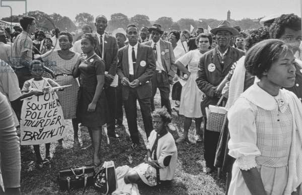 The March on Washington: Washington Monument Grounds, 28th August 1963 (b/w photo)