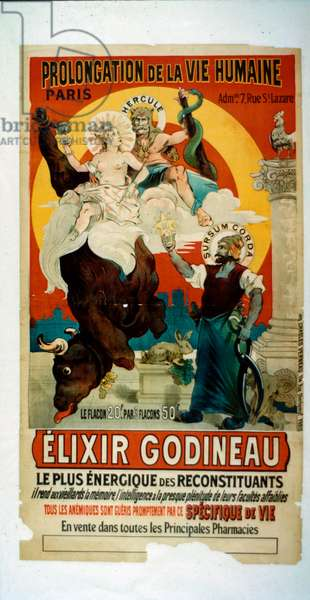 Poster for Elixir Godineau, c.1900 (colour litho)