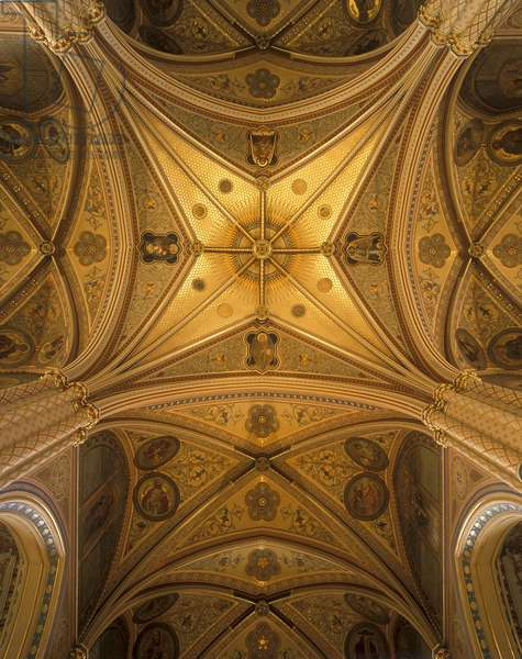Vault of the Church of St. Ludmila, Prague, Czech Republic (photo)