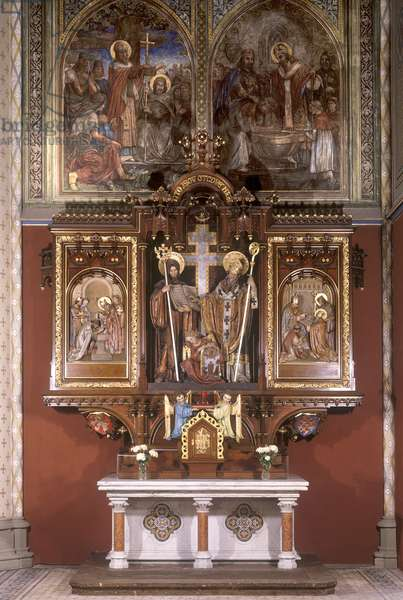 Altar of Saints Cyril and Methodius, 1927 (painted wood)