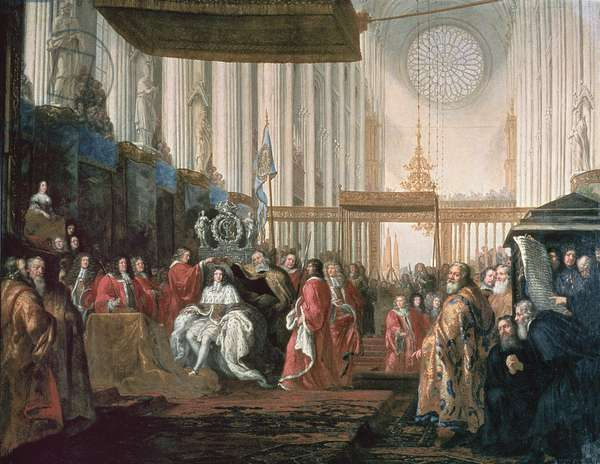 Coronation of Karl XI (1655-97) (oil on canvas)