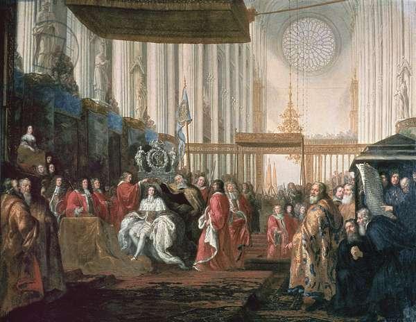 Coronation of Karl XI (1655-97) (oil on canvas)