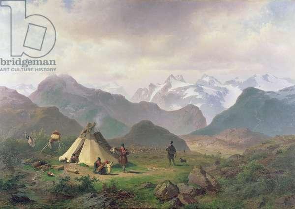 Motif from Kvikkjokk, 1862 (oil on canvas)