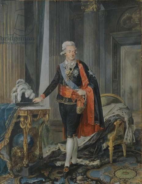King Gustav III of Sweden (1746-92) 1792 (gouache on paper)
