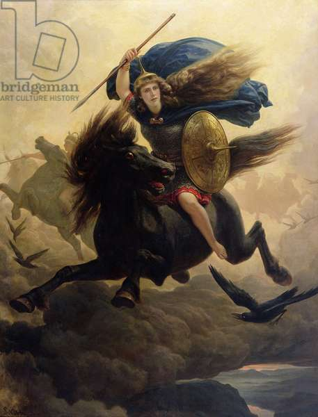 Valkyrie, 1865 (oil on canvas)