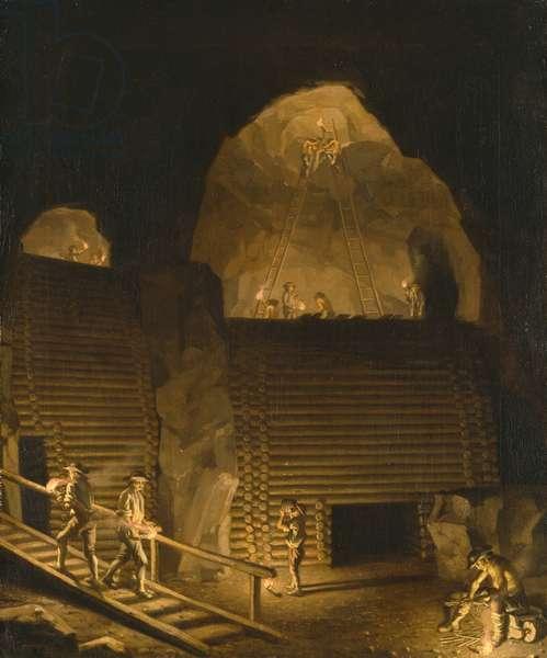 Falun Copper Mine (oil on canvas)