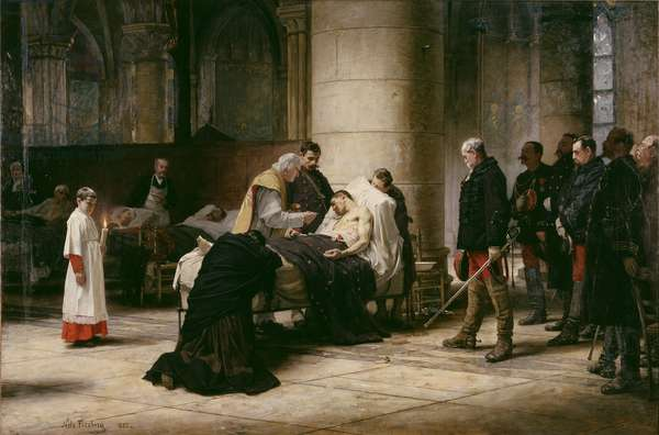 Death of a Hero, 1888 (oil on canvas)