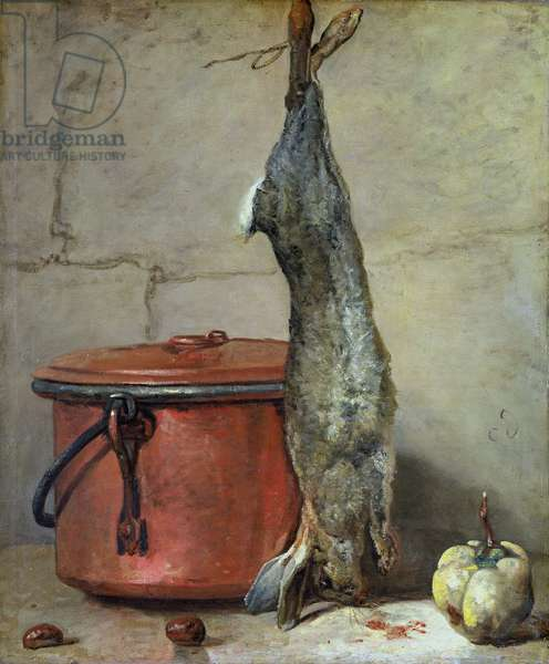 Rabbit and Copper Pot c.1739-40  (oil on canvas)