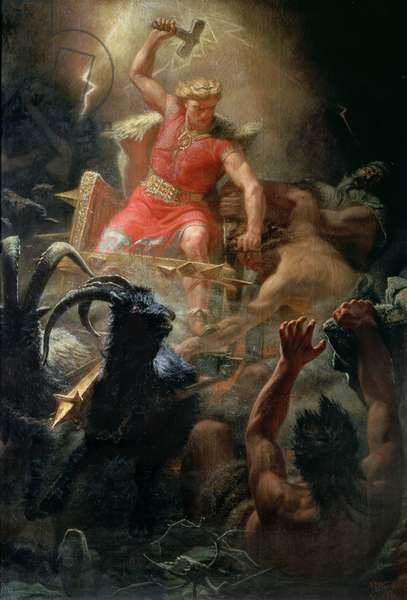Thor's Fight with the Giants, 1872 (oil on canvas)
