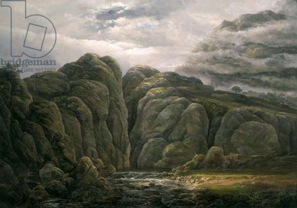 Norwegian Mountain Landscape, 1819 (oil on canvas)