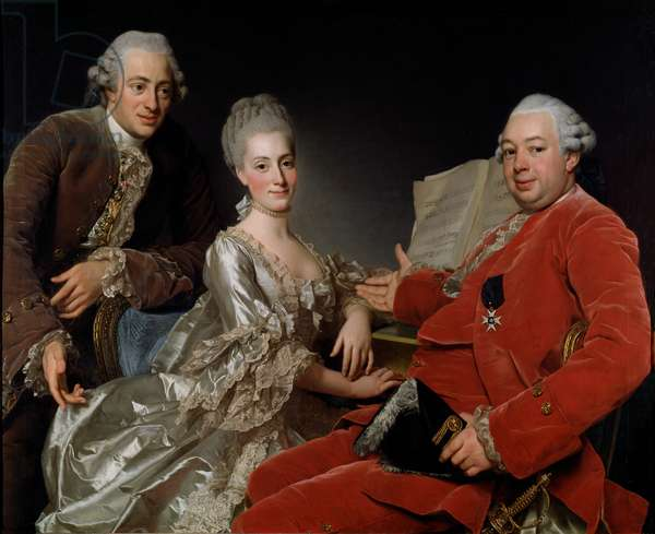 John Jennings Esq. and His Brother and Sister-in-Law, 1769 (oil on canvas)