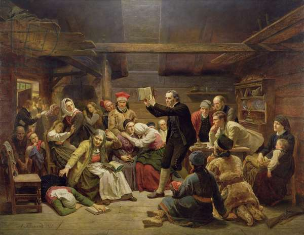 The Fanatics, 1866 (oil on canvas)