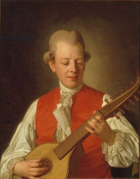 Portrait of the poet Carl Mikael Bellman (1740-95) 1779 (oil on canvas)