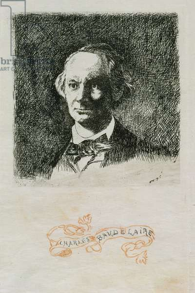 Charles Baudelaire (1820-67) 1868 (etching)