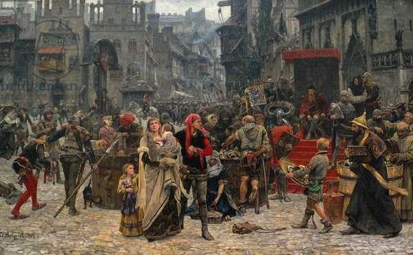 Valdemar IV Atterdag (c.1320-75) Holding Visby to Ransom, 1361, 1882 (oil on canvas)