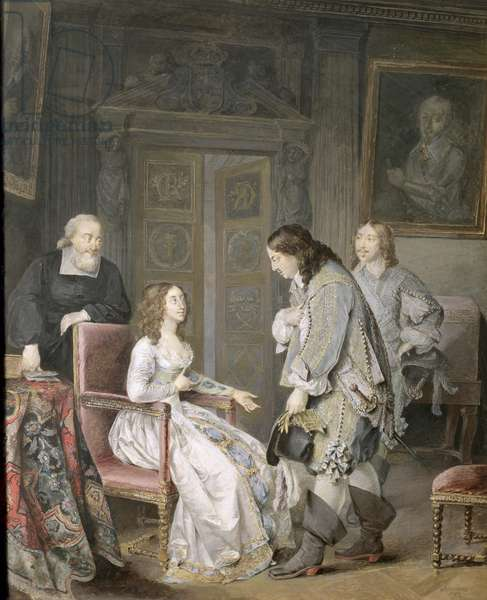Queen Kristina of Sweden (1626-89) and Karl X Gustav of Sweden (1622-60) 1793 (gouache on paper)