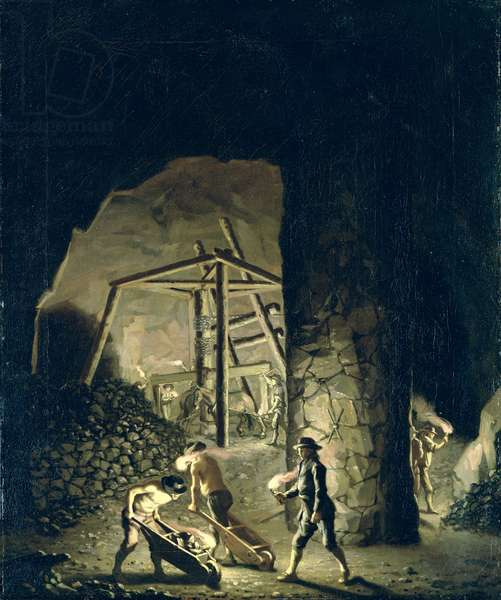 Gallery in Falun Copper Mine (oil on canvas)