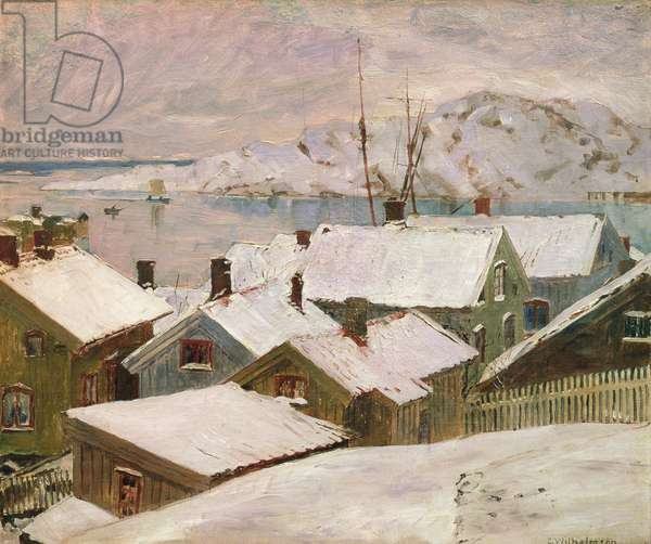 Fiskebackskil in Winter, 1899 (oil on canvas)