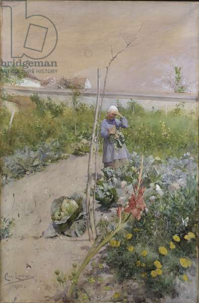 In the Kitchen Garden, 1883 (w/c on paper)