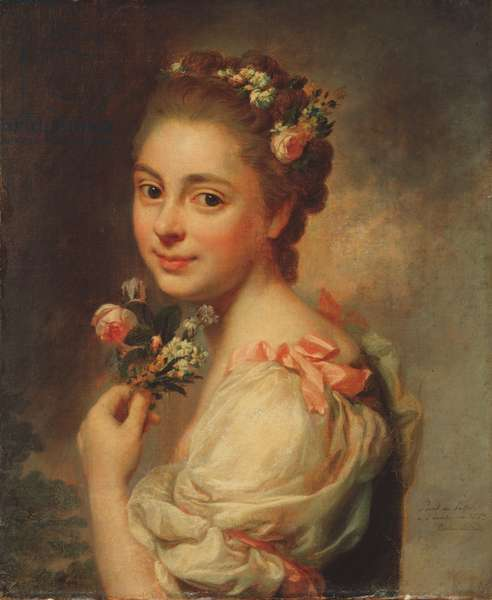 Portrait of the Artist's Wife, Marie Suzanne, 1763 (pastel on canvas)
