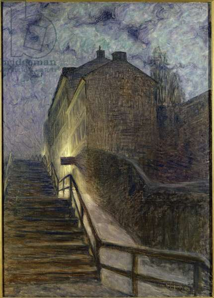 Motif from Timmersmainsgatan, 1899 (oil on canvas)