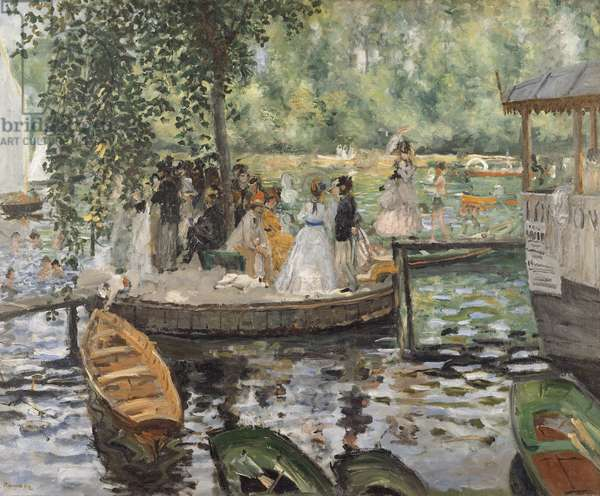 La Grenouillere, 1869 (oil on canvas)