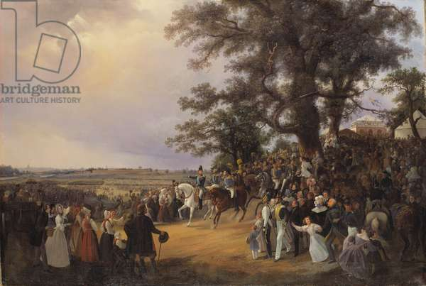 Review in Ladugardsgarde Fields During Tsar Nicholas' Visit in 1838 (oil on canvas)