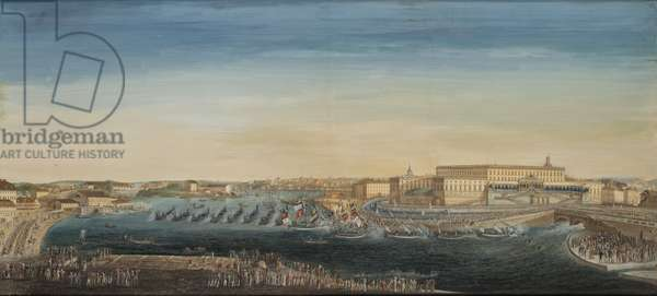 The Acclamation of King Carl XIV Johan of Sweden (1763-1844) 1818 (gouache on canvas)