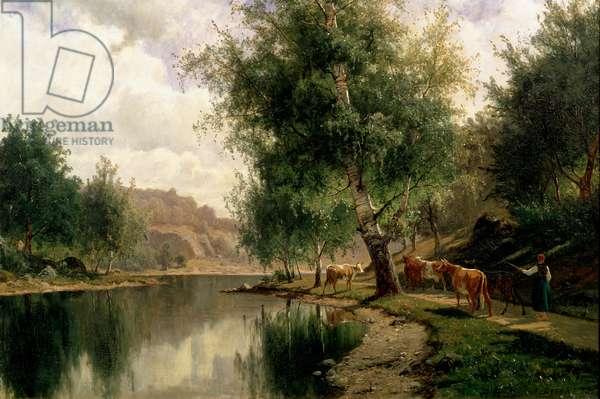 Summer Landscape, 1877 (oil on canvas)