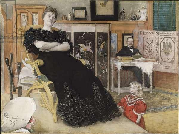 Anna Pettersson, c.1895 (w/c on paper)