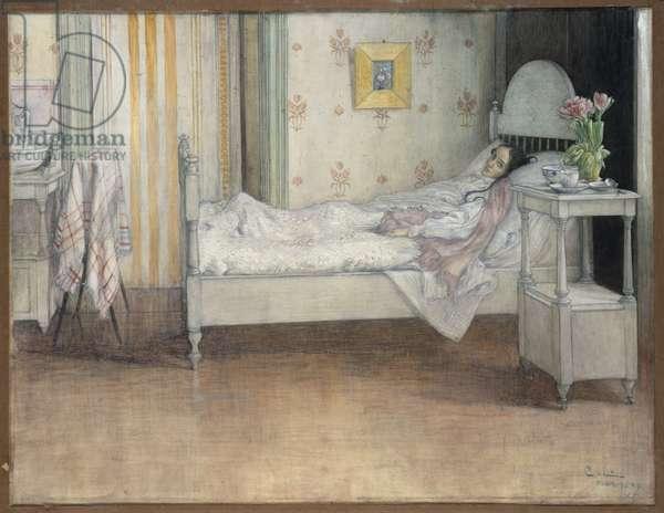 Convalescence, c.1899 (w/c on paper)