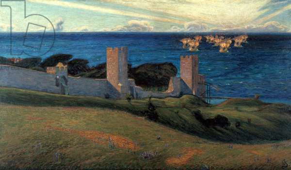Vision. Scene from Visby, 1894 (oil on canvas)
