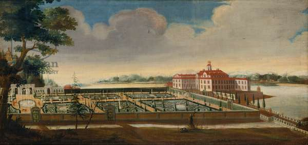 View of Ulriksdal Palace from the South, 1732 (oil on canvas)