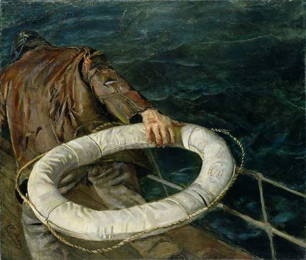 Man Overboard, 1906 (oil on canvas)