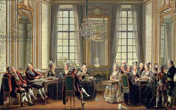 Conversation at Drottningholms Palace, 1779 (oil on canvas)