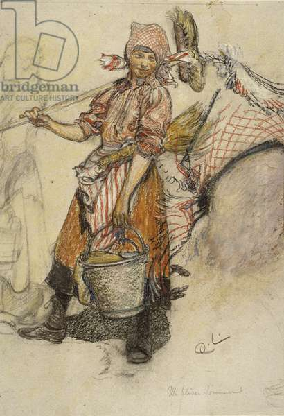 Washerwoman (pastel on paper)