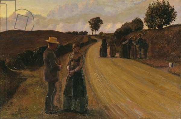 Love Making in the Evening, 1889-91 (oil on canvas)