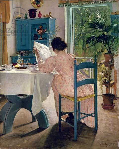 At Breakfast, 1898 (oil on canvas)