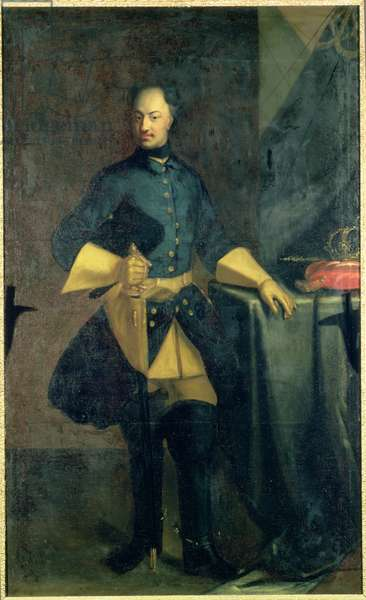 Portrait of King Karl XII (1682-1718) (oil on canvas)