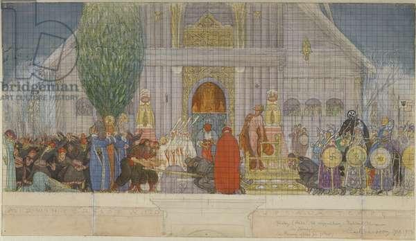 Preparatory Sketch for Midwinter's Sacrifice (w/c on paper)